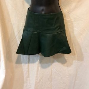 Ladies/Juniors faux leather mini skirt size small
